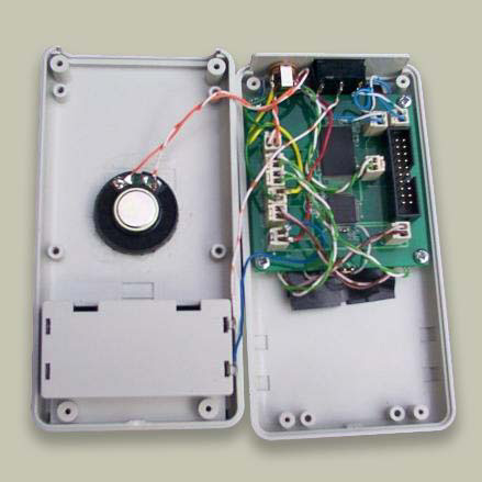 Inside of the first prototype audio Bible player
