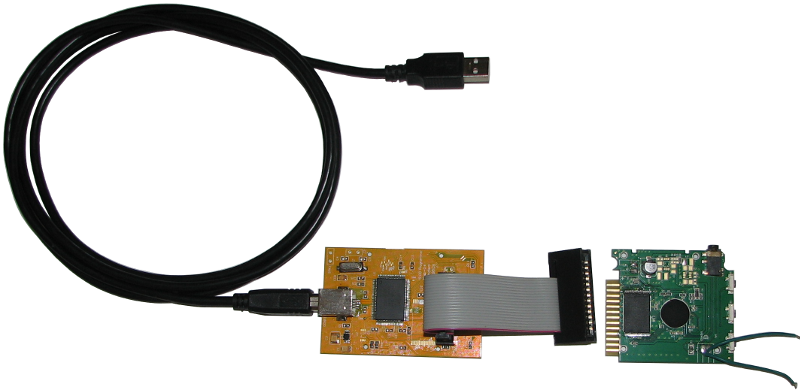 High-speed USB 2.0 NAND flash programmer using an edge connector